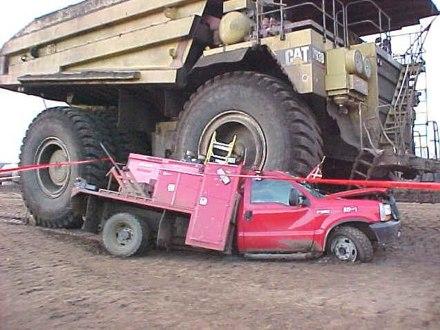kad veliki kamion ne vidi malog