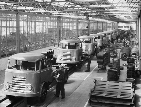 DAF serija A - proizvodnja