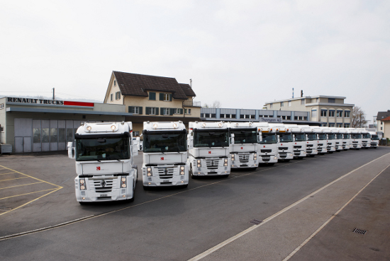 sauber team logistic fleet