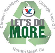 Valvoline NextGen recycle logo