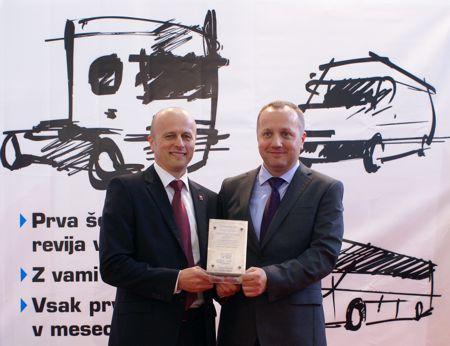 Dodjela nagrade kamiona godine 2014. u Sloveniji