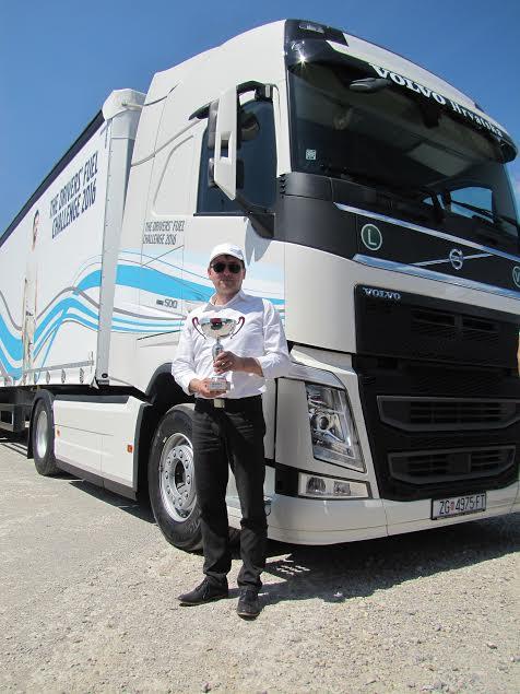 Igor Tkalec, pobjednik natjecanja Volvo Trucks DFC 2016