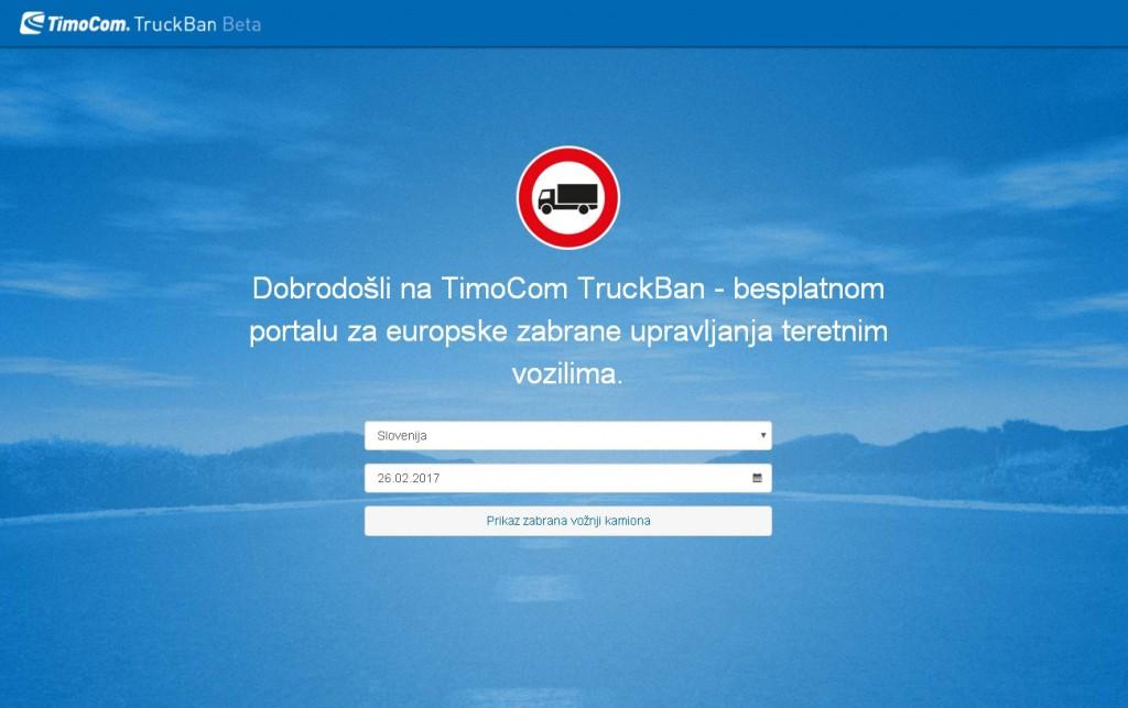 Truckban.info - nova stranica s korisnim informacijama