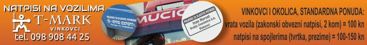 T-mark Vinkovci - natpisi za vozila