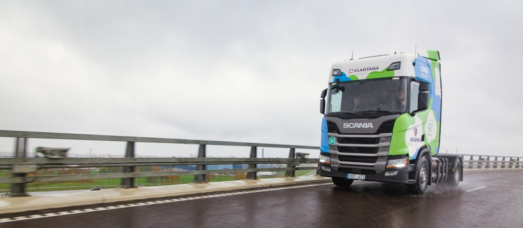 Scania CNG kamion, prvi u Litvi