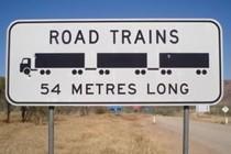 road trains 54 m long