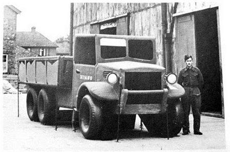 Britanski kamion na napuhavanje u drugom svjetskom ratu