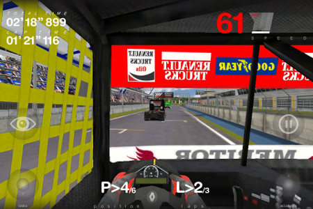 Igra Truck Racing za iPhone - snimak zaslona