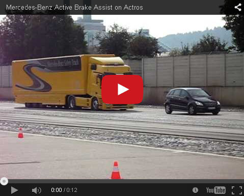 Video - Mercedes Benz Active Brake Assist