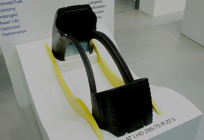 Presjek gume Goodyear s ugrađenim sustavom AMT - featured img
