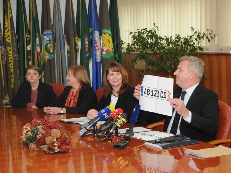 Konferencija za medije MUP-a RH - izabran dizajn novih registarskih pločica Republike Hrvatske