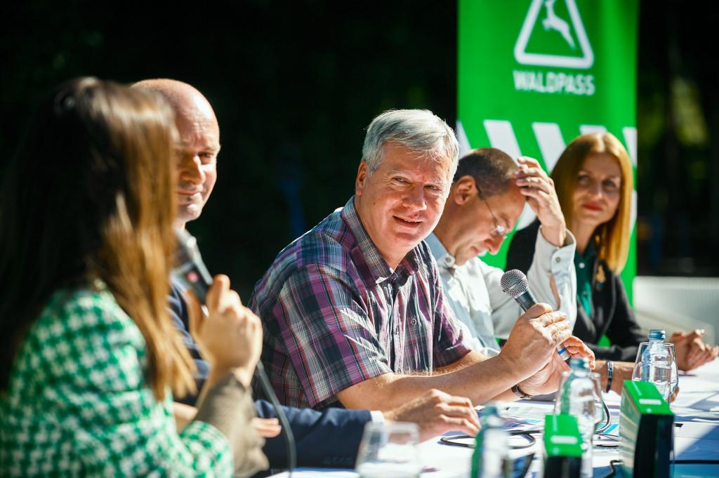 Jelena Glišić, Marko Borošak, dr.sc. Rajko Horvat, Tomislav Horvat i Ana Trepšić na prezentaciji uređaja Waldpass